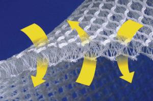 3D Abstandsgewirk zur Verhinderung von Kondenswasserbildung unter der Matratze