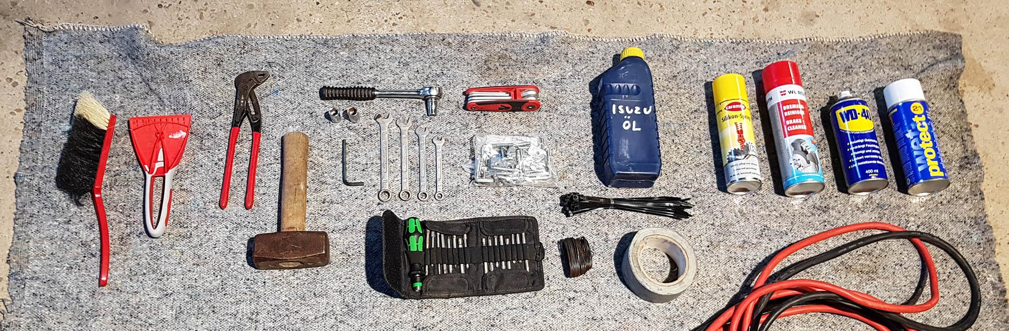 Dachzelt Packliste: Die Werkzeug Grundversorgung eines Dachzeltnomaden