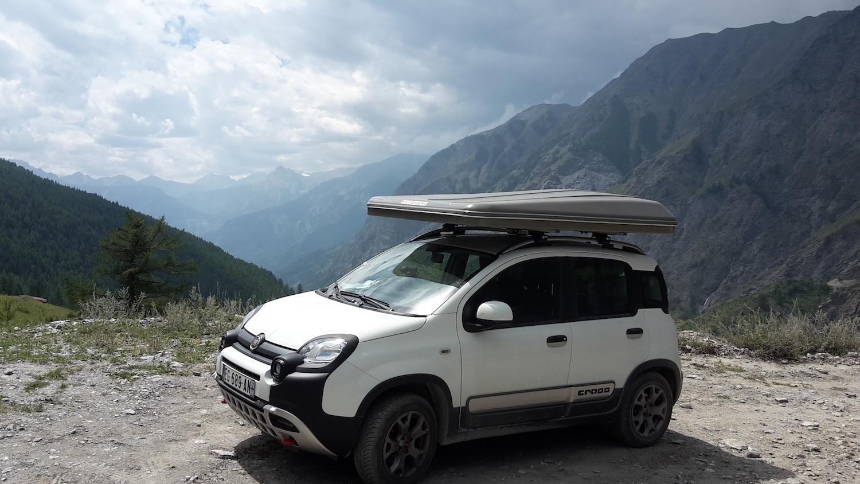 Dachzeltnomaden-Dachzelt-Reise-Westalpen-Col-de-Sommelier-Fiat-Panda-autohome