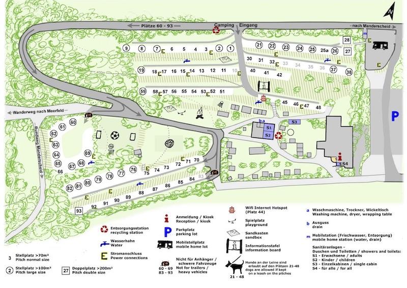 Dachzeltnomaden Dachzelt Naturcamping Vulkaneifel Lageplan