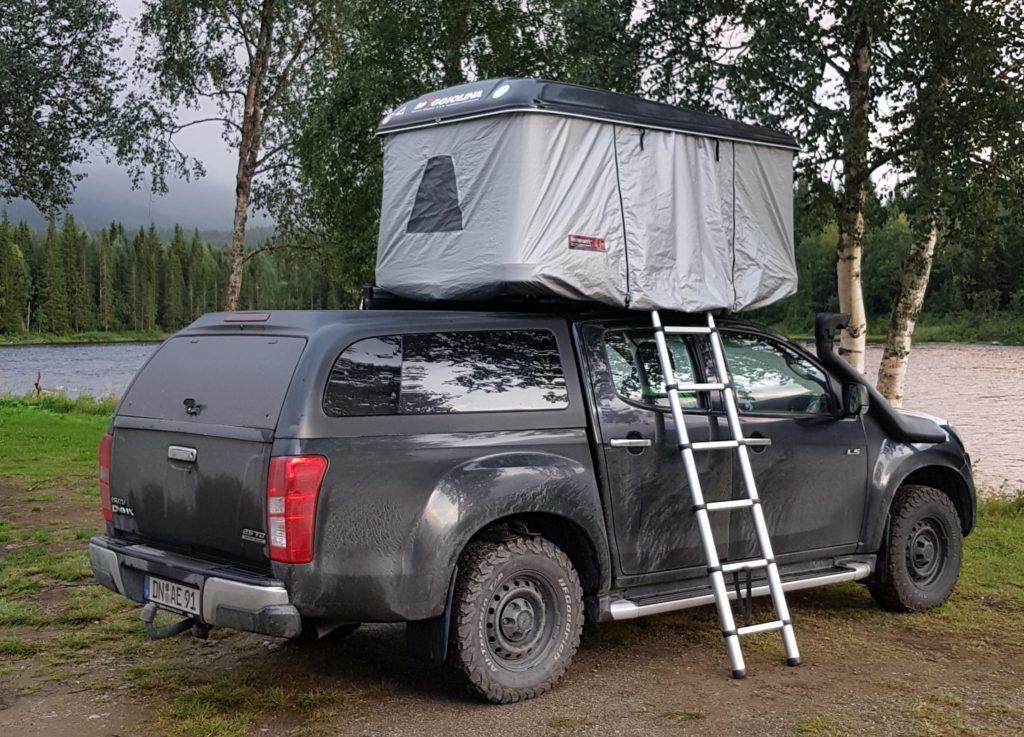 Dachzelt auf Pickup