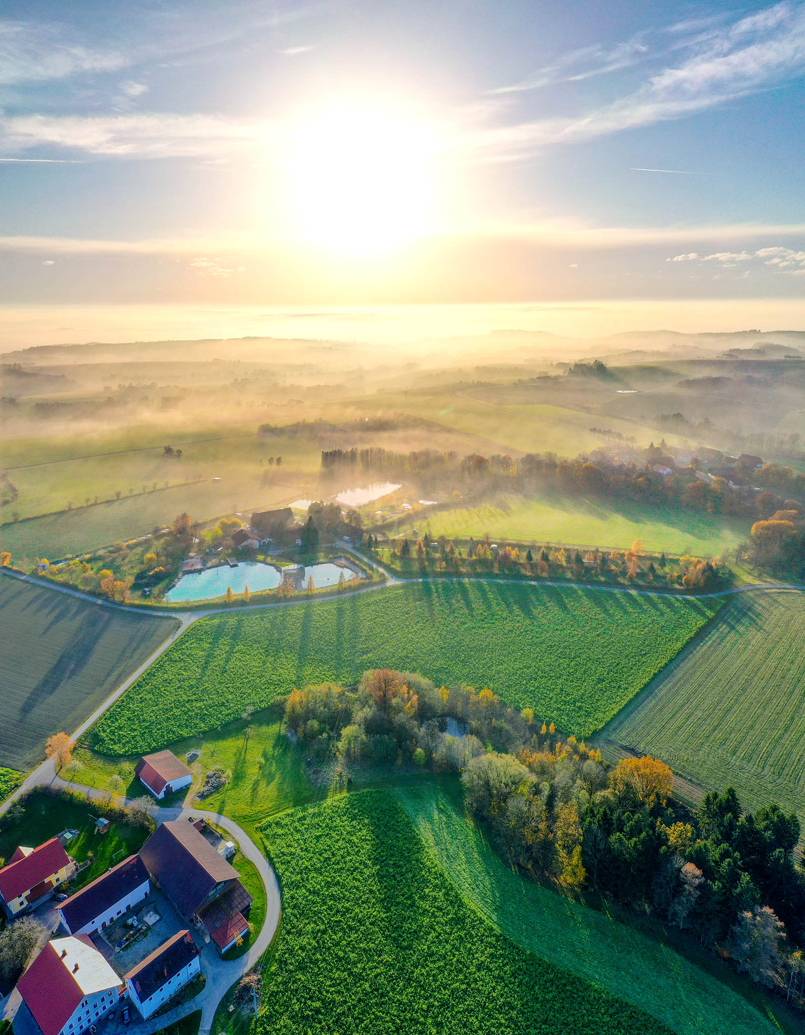 Drohne Winter Silvester Camp Dachzelt