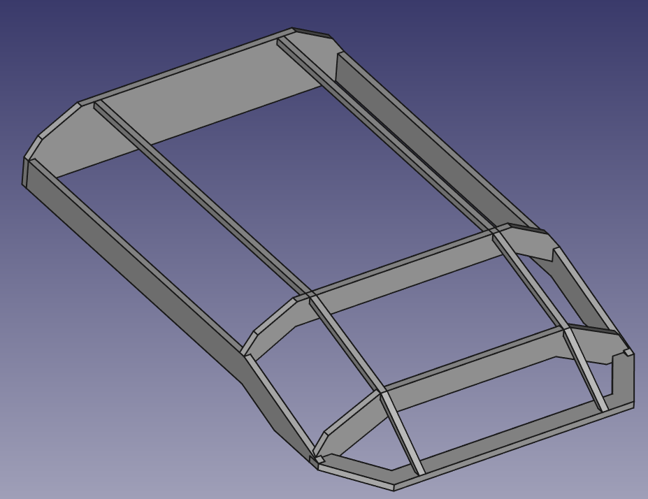 CAD Modell Dachzelthaube