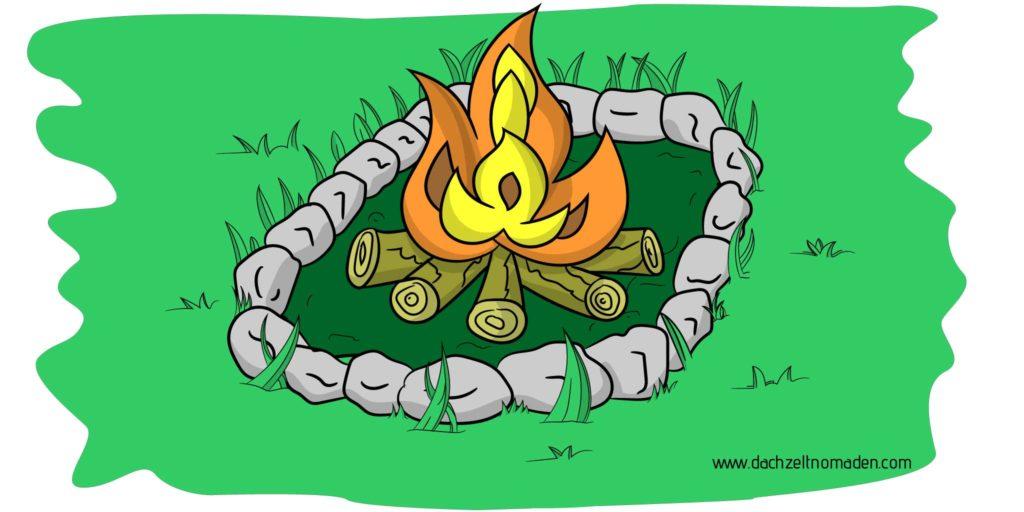 Diese Bild zeigt ein Lagerfeuer