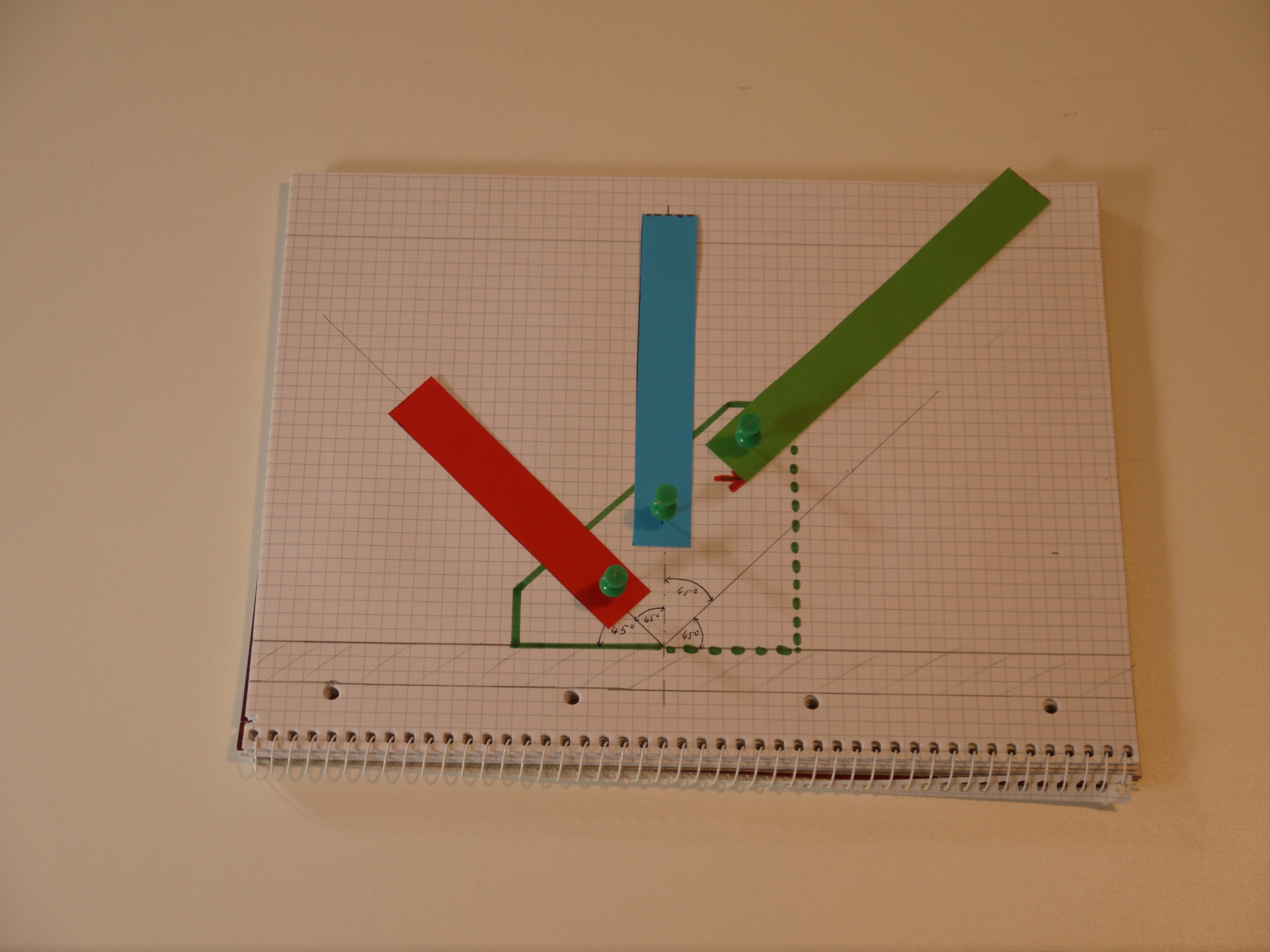 Fertiges Modell Klappmechanismus selbser gebautes Dachzelt