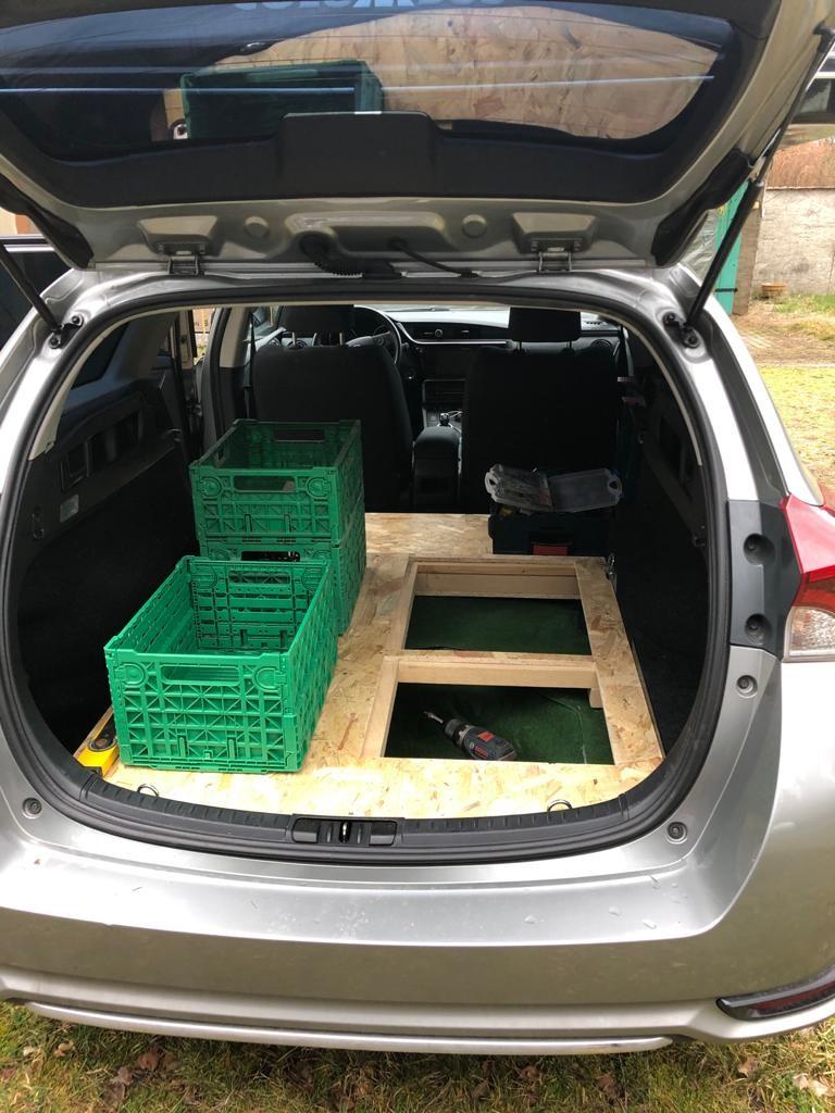 Rücksitze ausgebaut um mehr platz zu haben