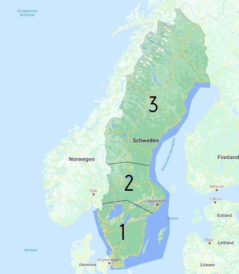 übersichtskarte Schweden